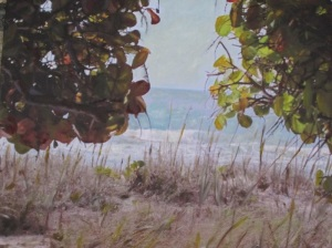 Through the Trees in Bonita Springs photographed and painted by Laurie Lane