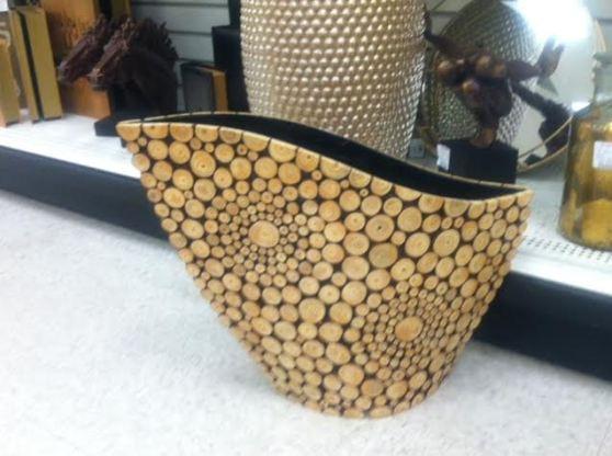 Cut wooden basket