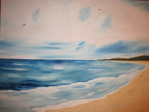 Ocean View- Oil on Canvas