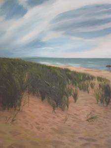 Dunes at Lake Michigan Mixed Media- Photography & Oil on Canvas