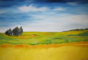 Orange Plains- Oil on Canvas