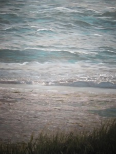 Rolling Surf - Mixed Media- Photography and Oil on Canvas